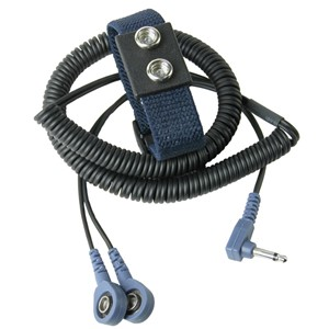 63240-WRIST STRAP, DUAL, 7MM SOCKET, WOVEN, 12FT CORD