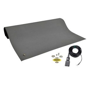 10923-MAT, DISSIPATIVE RUBBER, GRAY, 2' x 4'