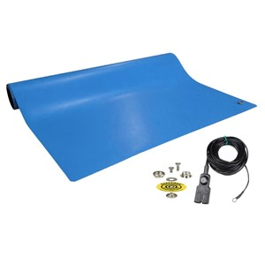 10920-MAT, DISSIPATIVE RUBBER, BLUE, 2' x 3'