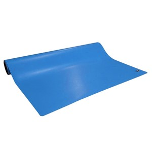 10926-ROLL, DISSIPATIVE RUBBER, BLUE, 2' x 50'