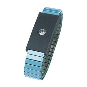 95011-WRISTBAND, METAL, ADJ, LIGHT BLUE, 4MM SNAP