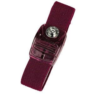 95135-WRISTBAND, SLIDE-LOCK, MAROON, 7MM STUD