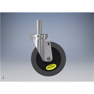 WCG5X125SN-5''x1-1/4'' GRAY WHEEL, SWIVEL CASTER ASSEMBLY