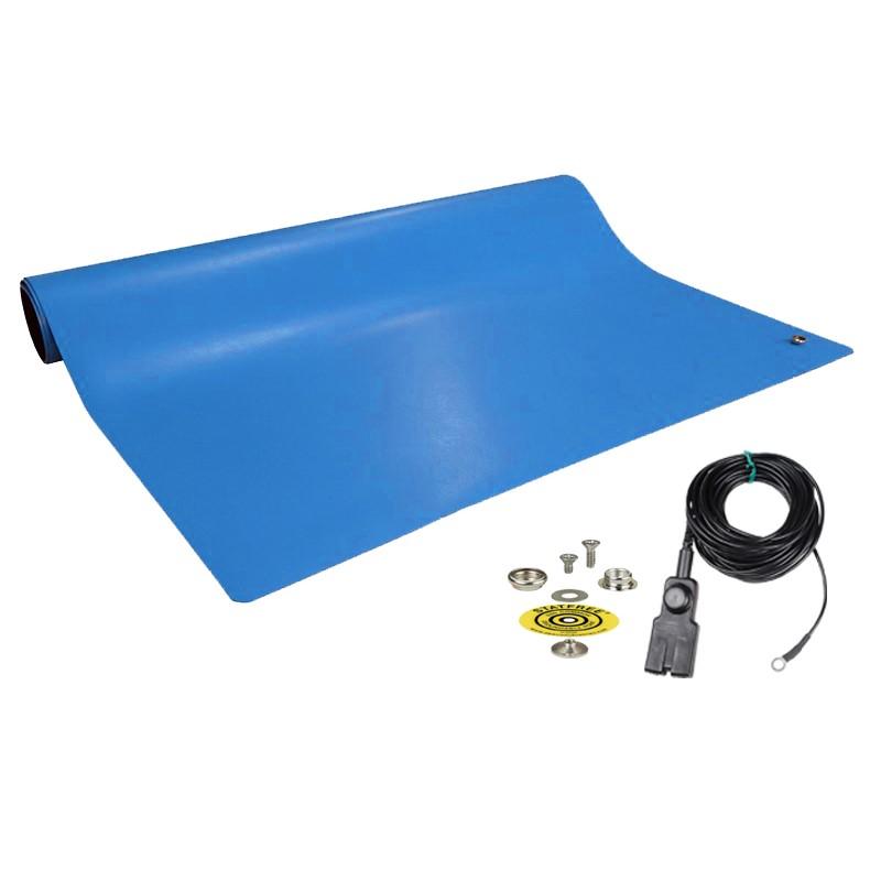 10922-MAT, DISSIPATIVE RUBBER, BLUE, 2' x 4'