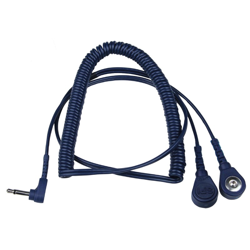 95184-COIL CORD, BLUE, 12 FT, DUAL WIRE, 4MM, R/A