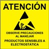 LABEL, ATTENTION, RS-471, SPANISH, 4''x4'', ROLL OF 250