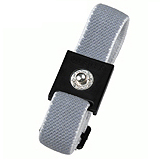 WRISTBAND, SLIDE-STRETCH, GREY 4MM STUD
